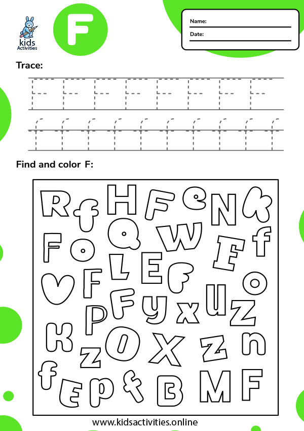 Tracing-letter-f-worksheets