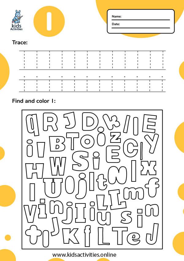 Tracing-letter-i-worksheets