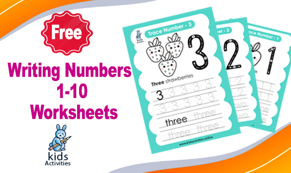Free! writing numbers in words 1-10 worksheets