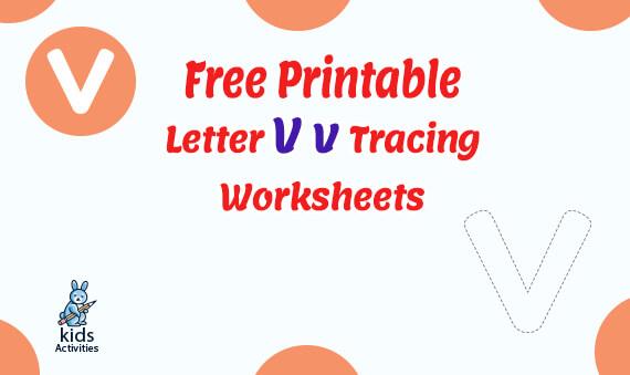 letter v tracing worksheets