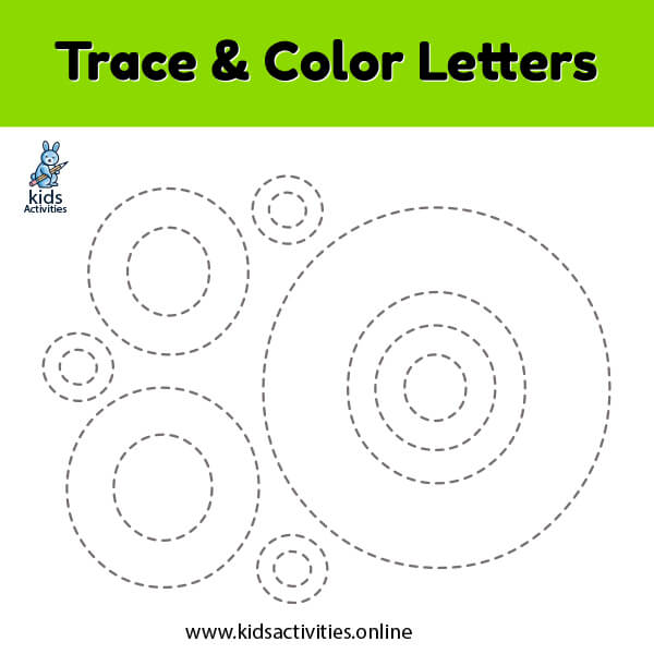Trace line letter o