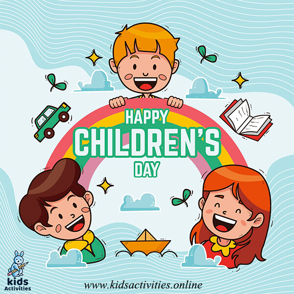 Children's day greeting card drawing - children's day greeting cards free