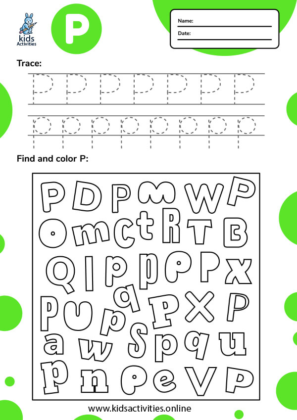 Tracing-letter-P-worksheets