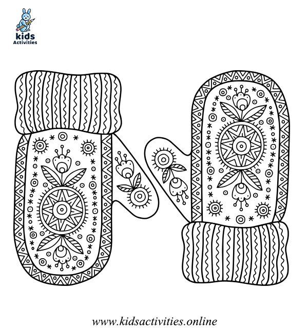 Free winter coloring page for adults
