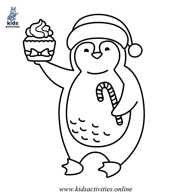 Animals in the winter coloring pages