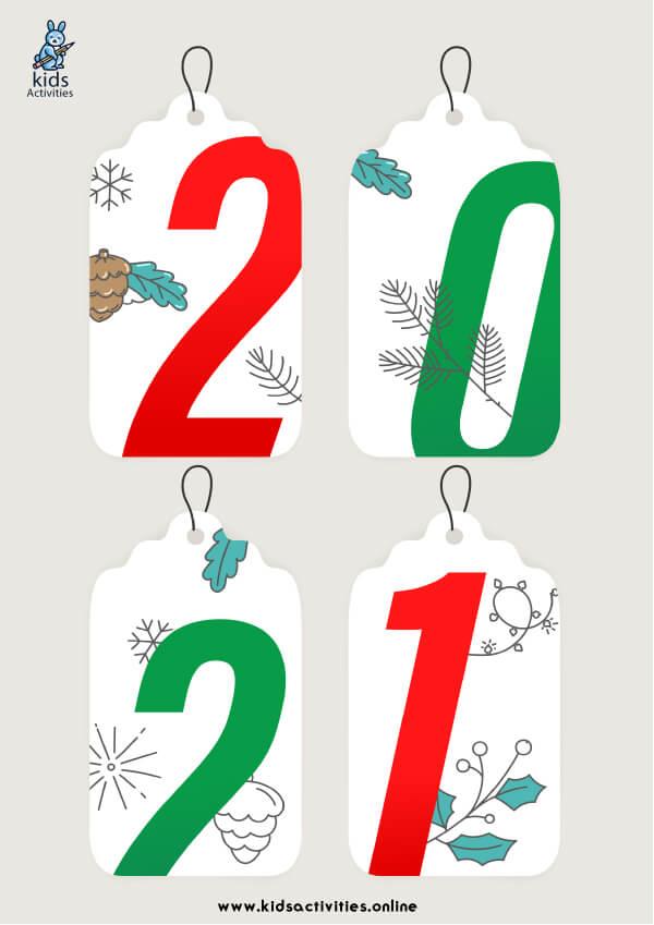 Free New Year 2021 Greetings Card Printable
