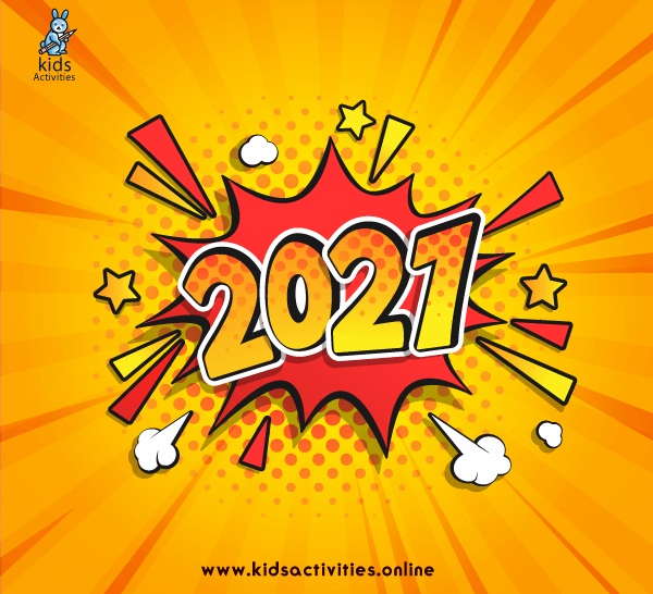 Free happy new year colorful greetings 2021