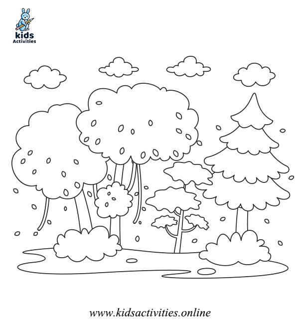 Free Winter colouring in pages for preschool