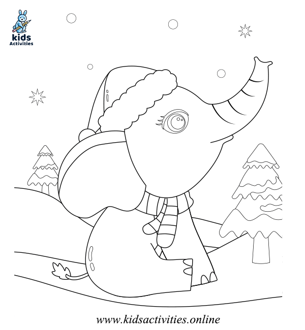 Winter coloring pages for toddlers