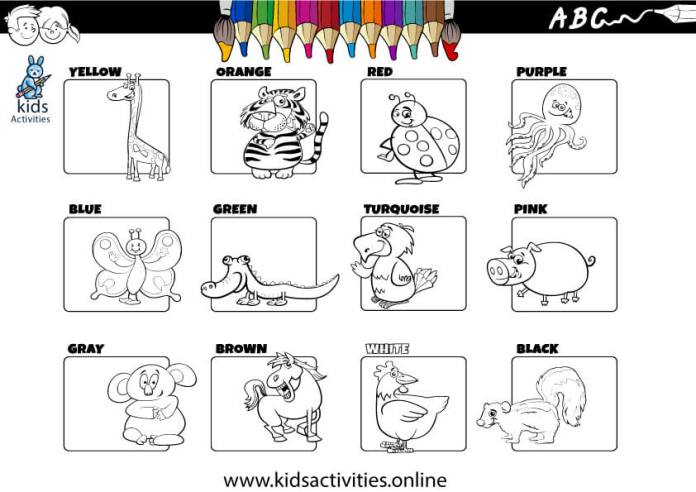 colors worksheets for kindergarten