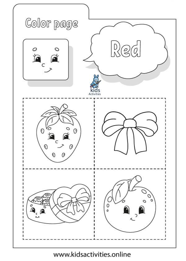 color worksheets for preschool and kindergarten