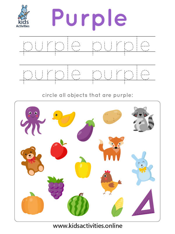 learning colors free worksheets
