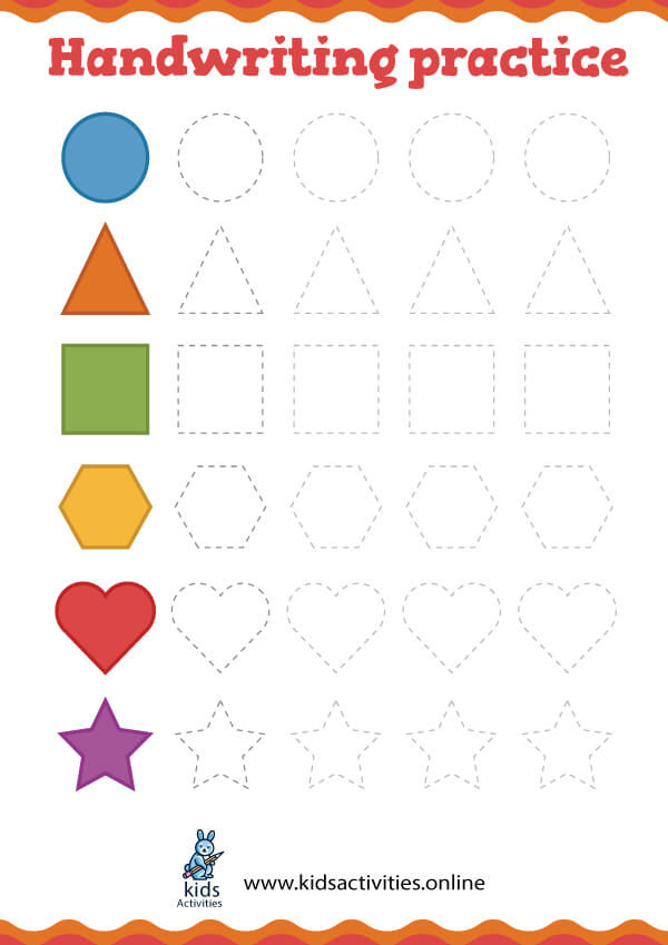 colors and shapes - shape tracing