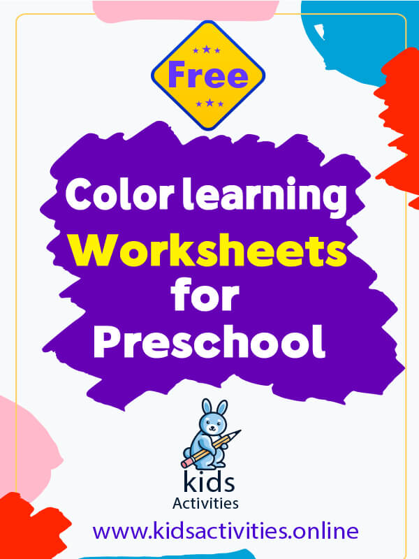Learning Colors Worksheets for Preschool & Free Printables
