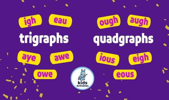trigraphs and quadgraphs