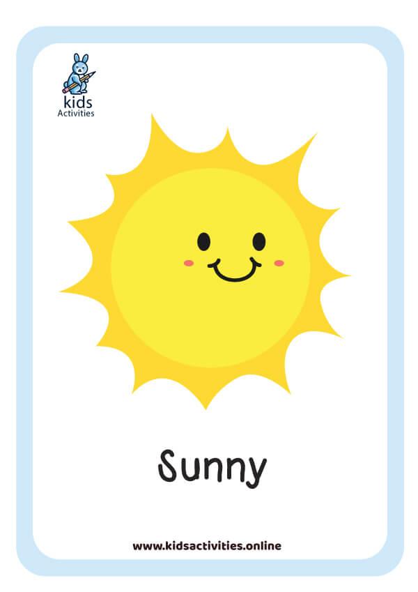 weather flashcards free printable pdf