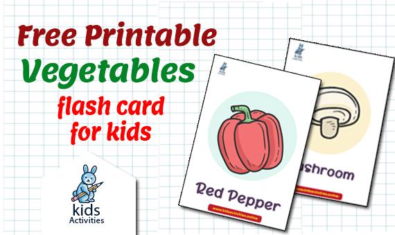 vegetables flashcards pdf free