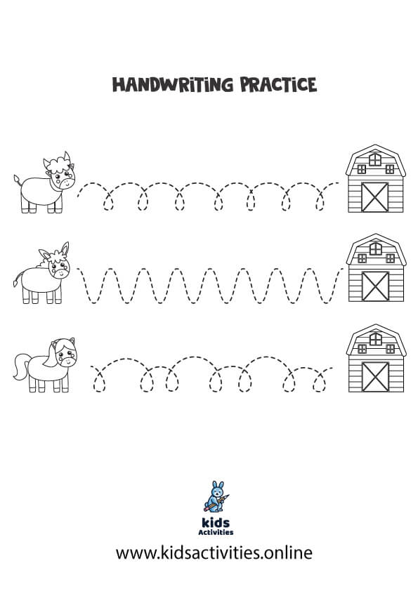 Tracing curved lines worksheets pdf
