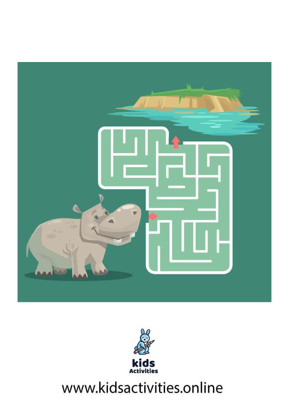 Free printable mazes for kindergarten - maze for kids pdf