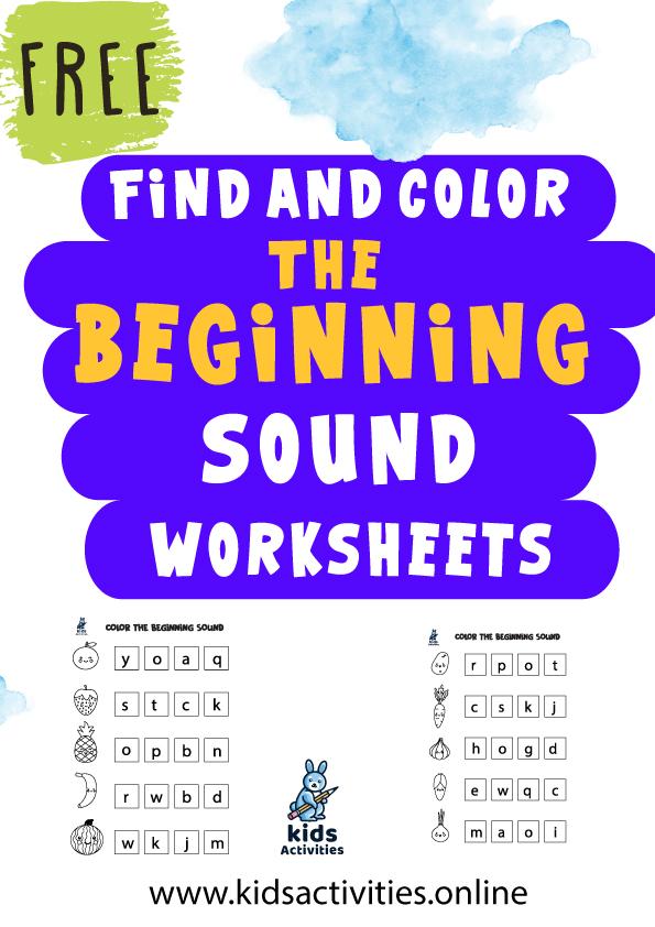 beginning sounds worksheets free