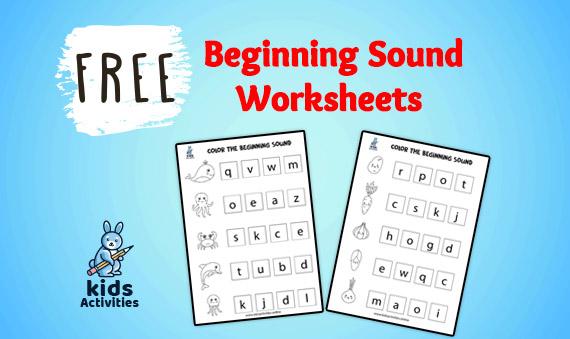 beginning sound worksheets free