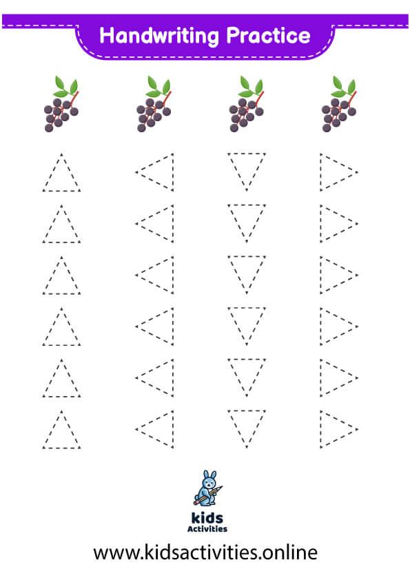 Free printable tracing worksheets shapes