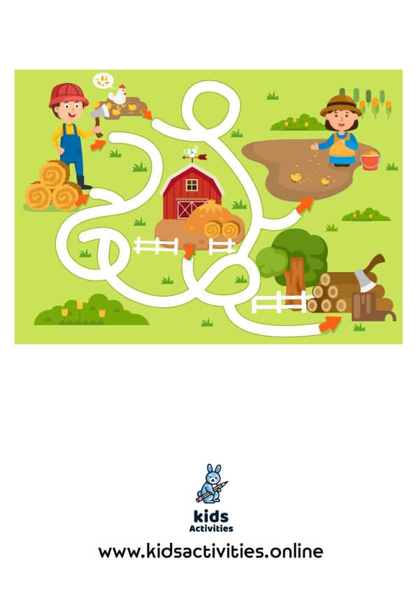 Free printable activity mazes for kindergarten pdf