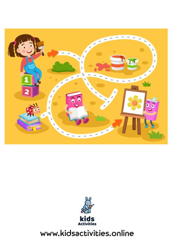 Mazes for kindergarten pdf free printable