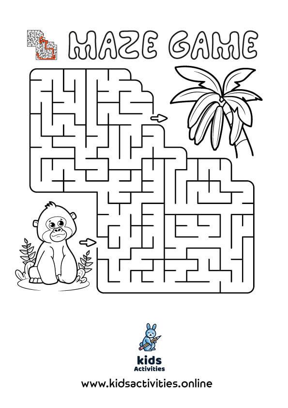 Free Printable Mazes For Preschoolers PDF