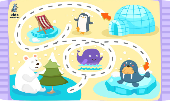 Educational maze game for children