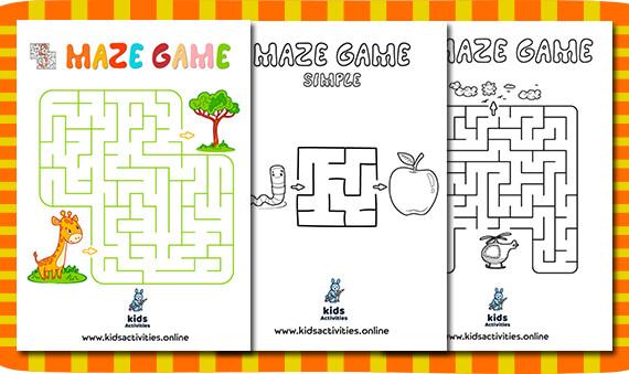 Free!- Printable puzzle mazes for kindergarten PDF
