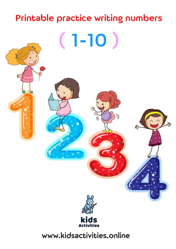 free practice writing numbers 1-10 free printable