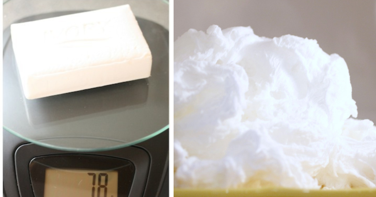 bar of soap erupt in the microwave