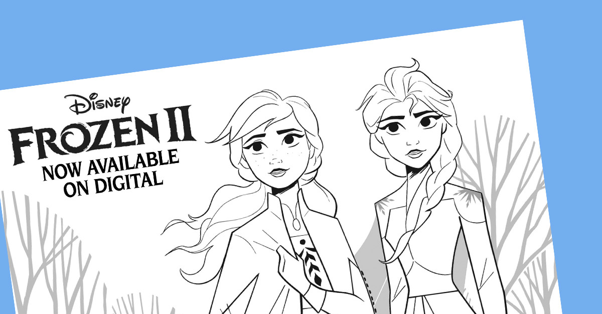 Frozen Coloring Pages Featuring New Characters From Frozen 2