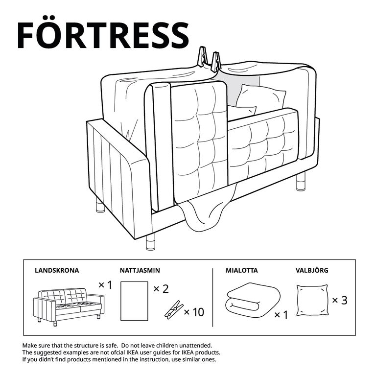 build a blanket fort with these easy to