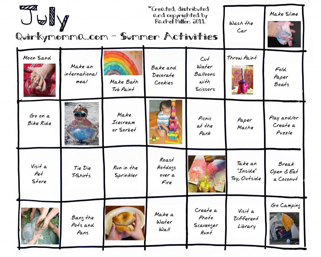 Activity Calendars
