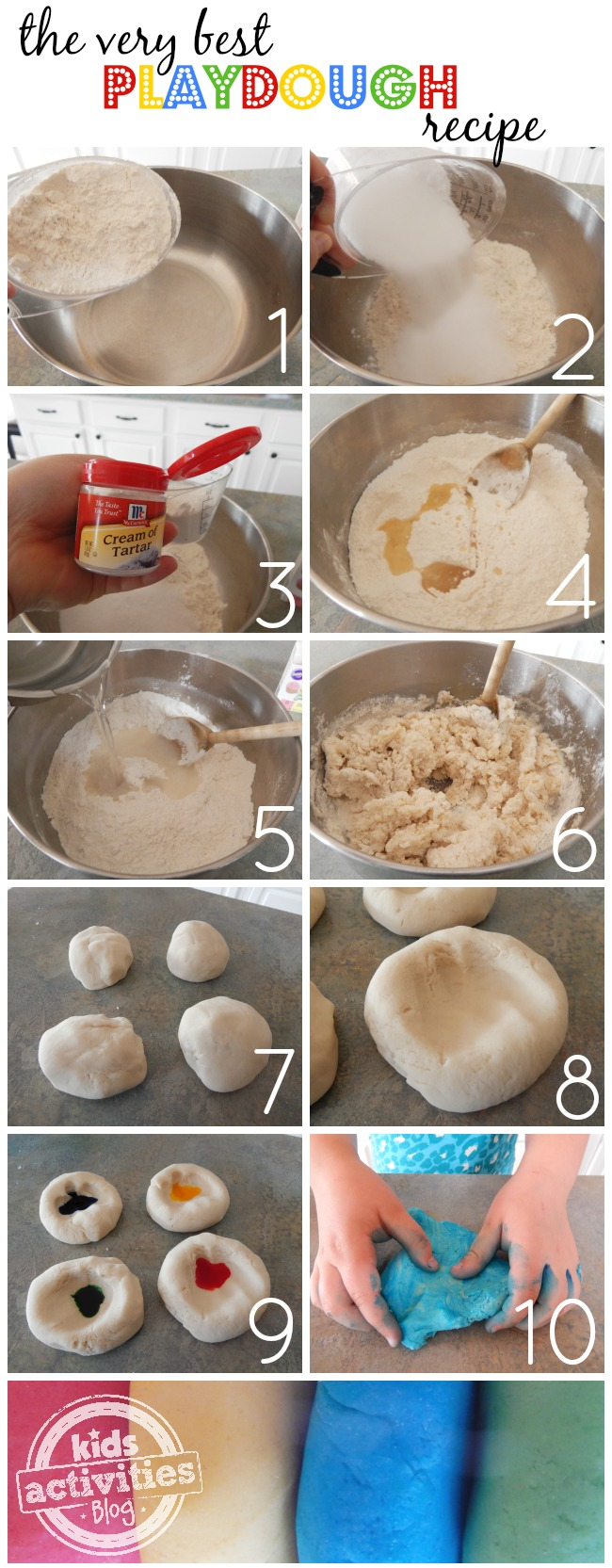 the very best playdough recipe