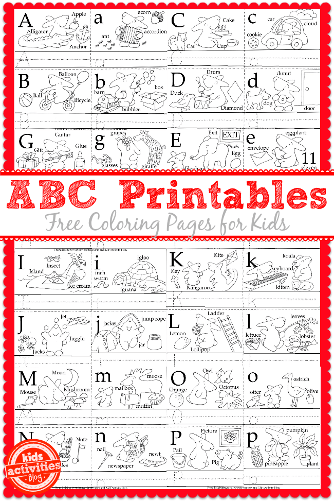 Learn To Write The ABCs With Free Kids Printables