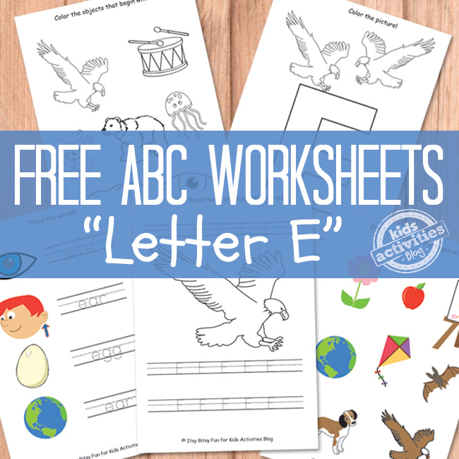 Letter E Worksheets Free Kids Printable