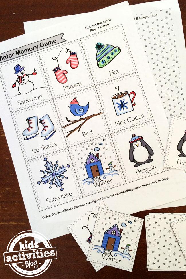 Winter Memory Game designed by Jen Goode
