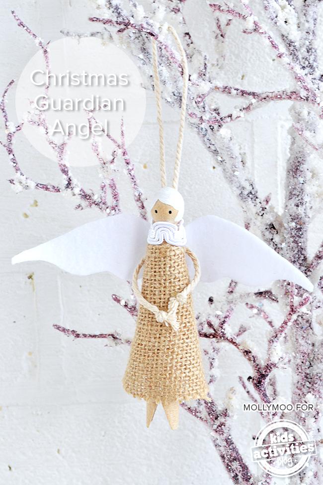 Guardian Angel Peg Doll DIY Christmas Tree Decoration