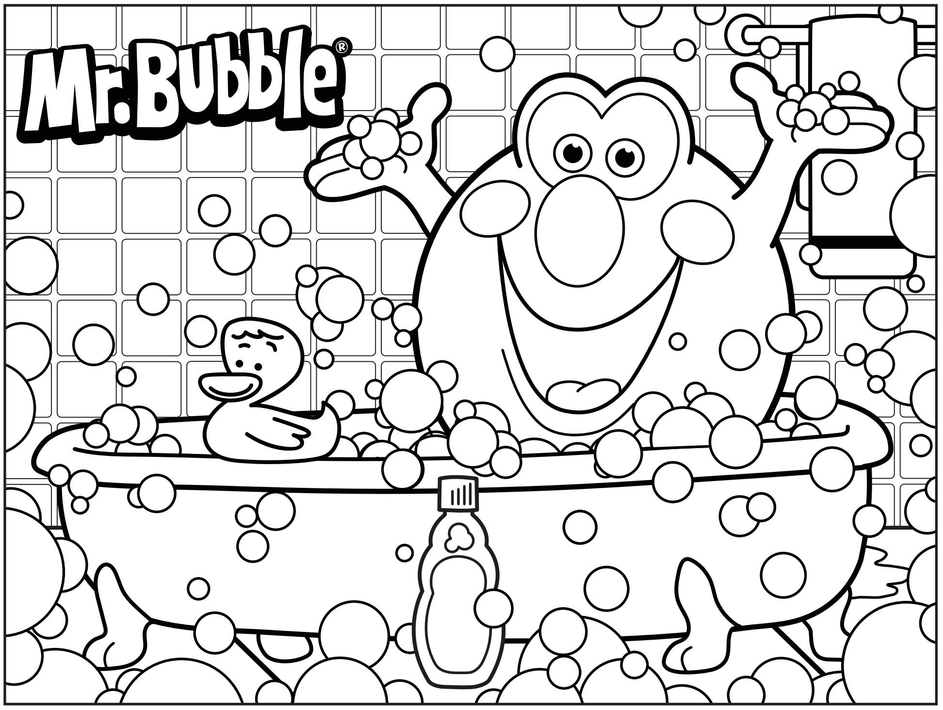 Bubble Math Sheet Printable Coloring Pages