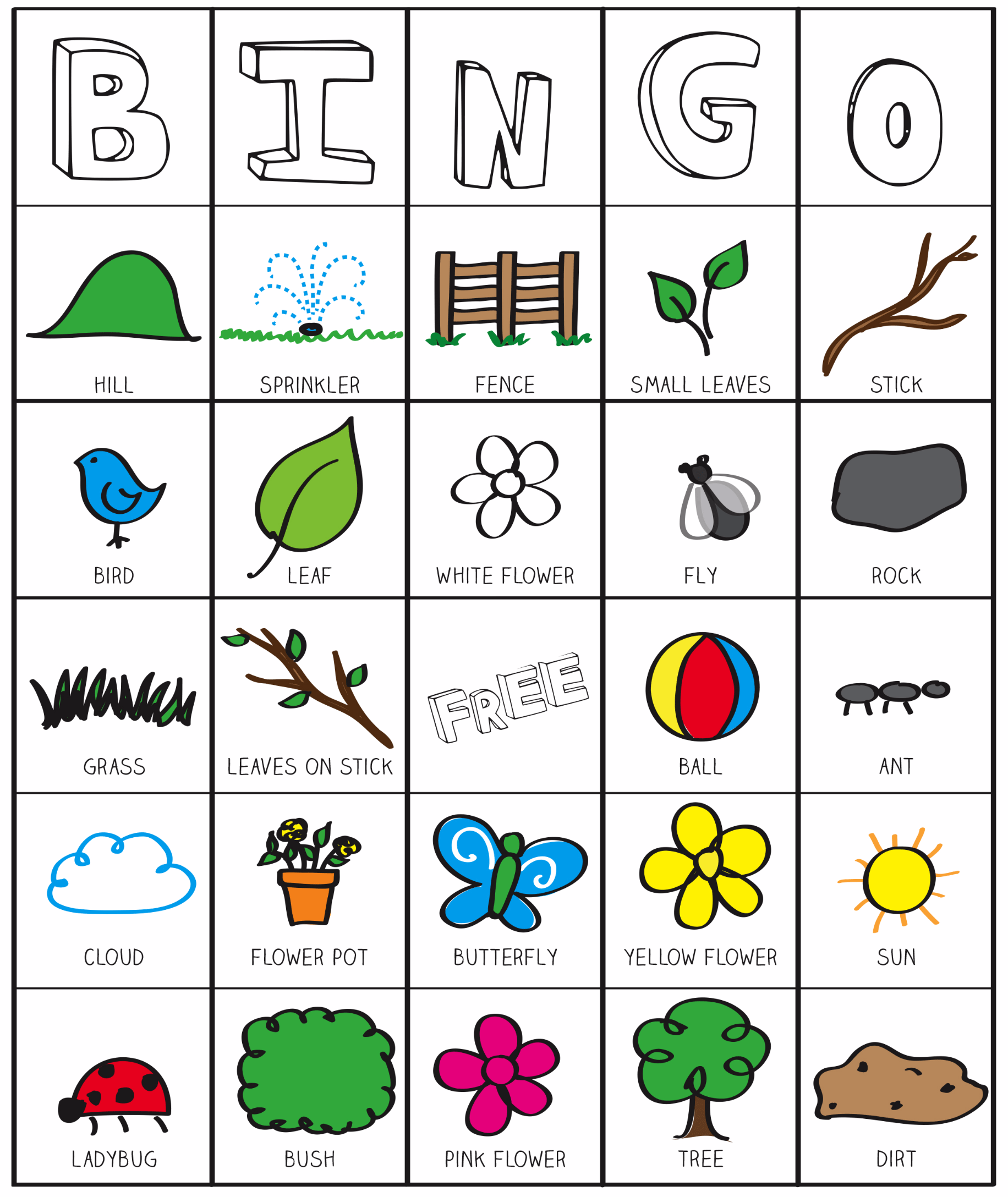Printable Phonics Bingo Games