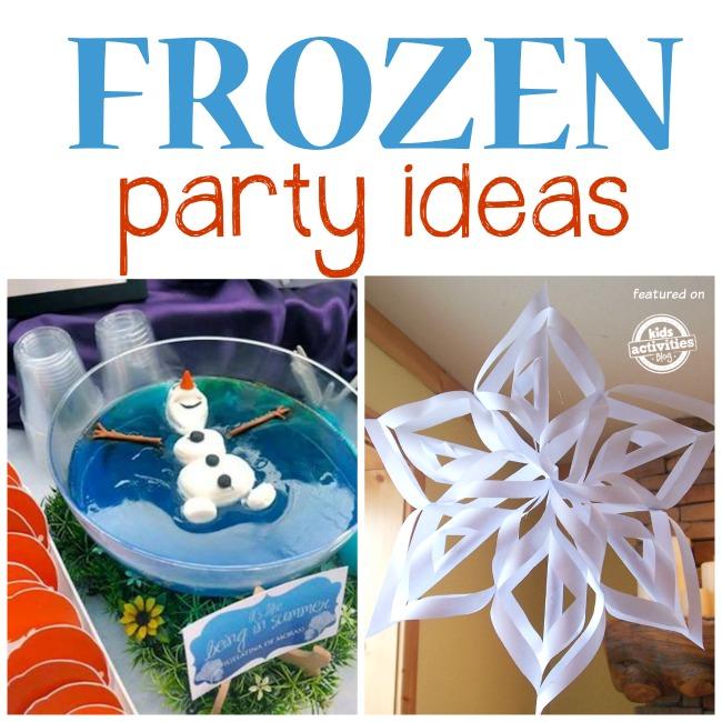 frozen party ideas w