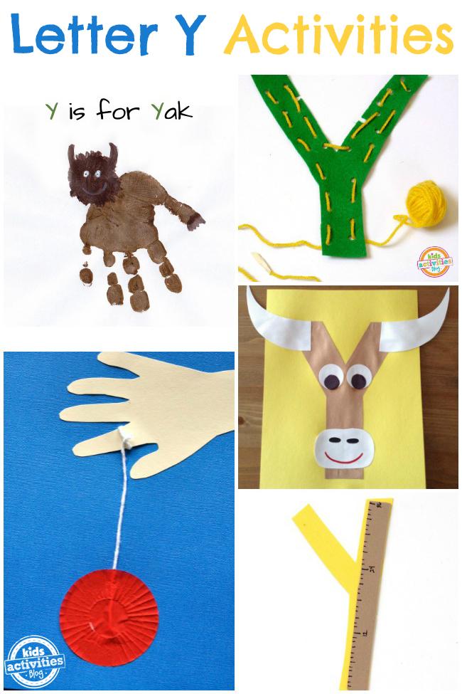 Preschool Letter Y crafts and activities