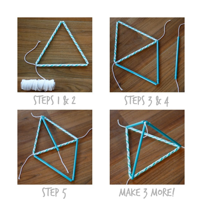 Pyramid Kite - Steps 1 to 5 - Kids Activities Blog
