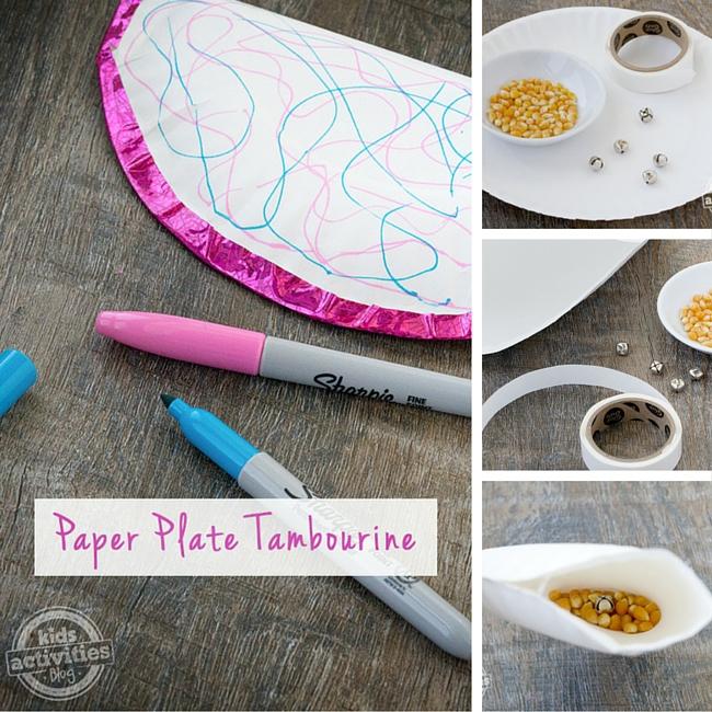 Paper Plate Tambourines