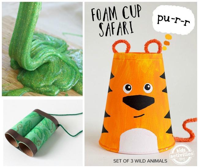 Letter J Activities Jungle- jungle slime, jungle crafts, and green jungle binoculars