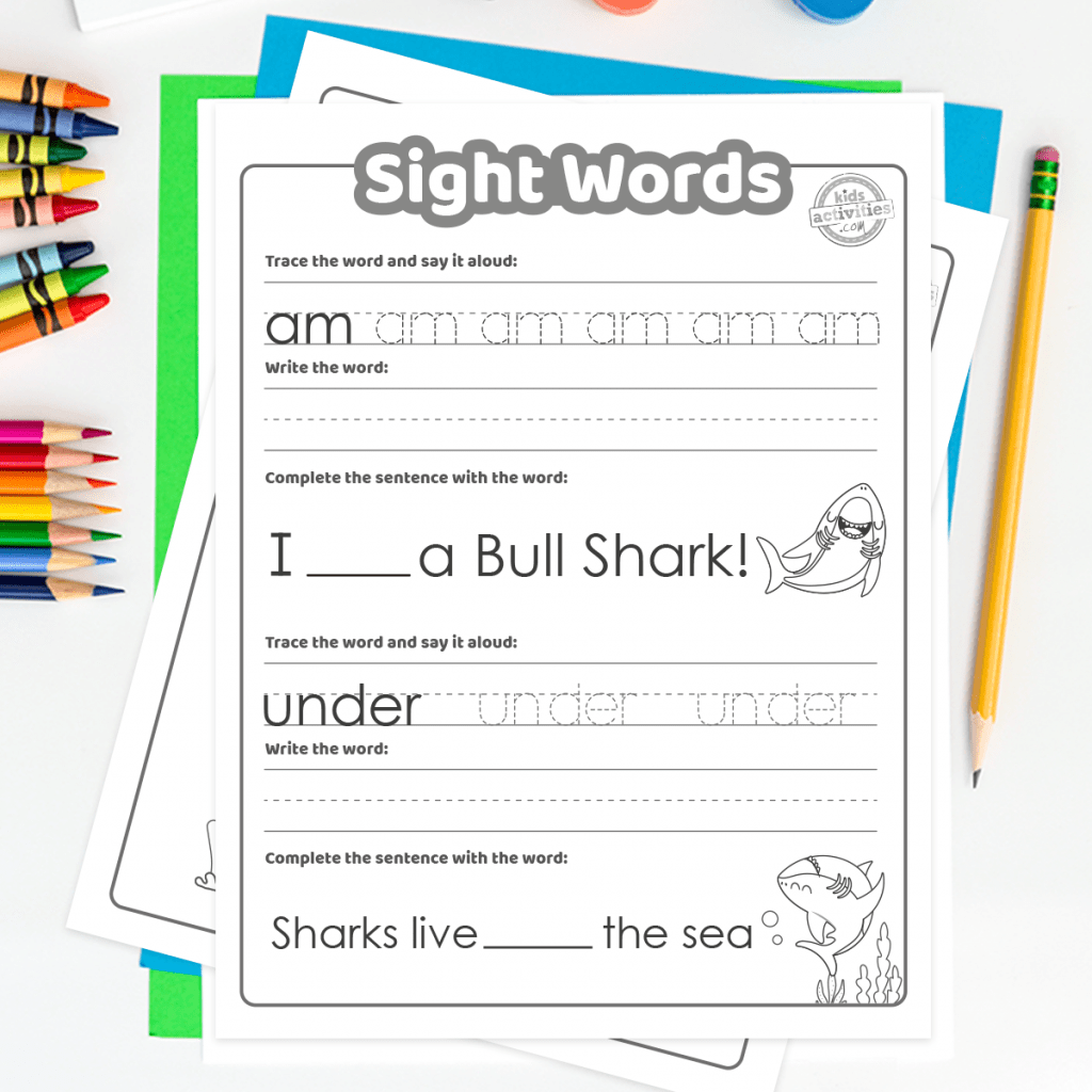 Learn To Read With Shark Week Sight Word Activities