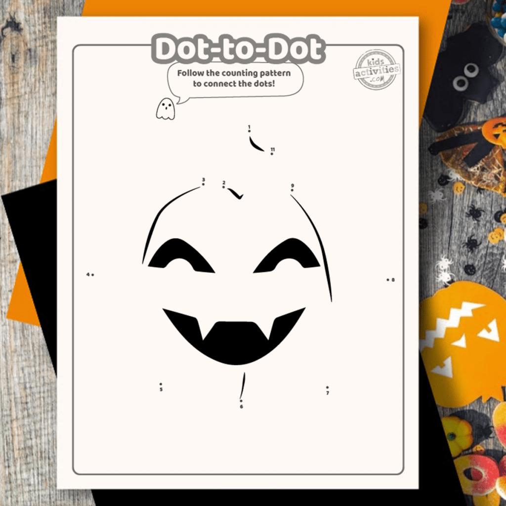 Delightful Halloween Dot To Dot Printables